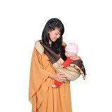 CHINTAKA Gendongan Samping + Topi Bordir [CBG 130200B] - Coklat - Carrier and Sling